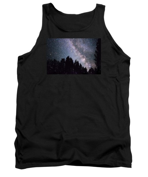 Milky Way Above The Bighorns Tank Top