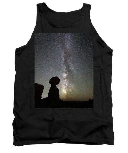 Milky Way Over Balanced Rock Tank Top