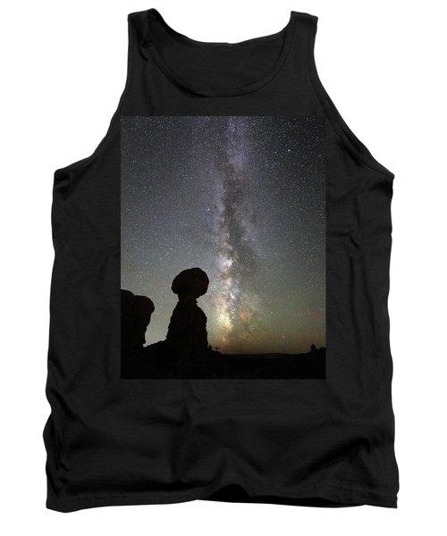 Milky Way Over Balanced Rock Tank Top