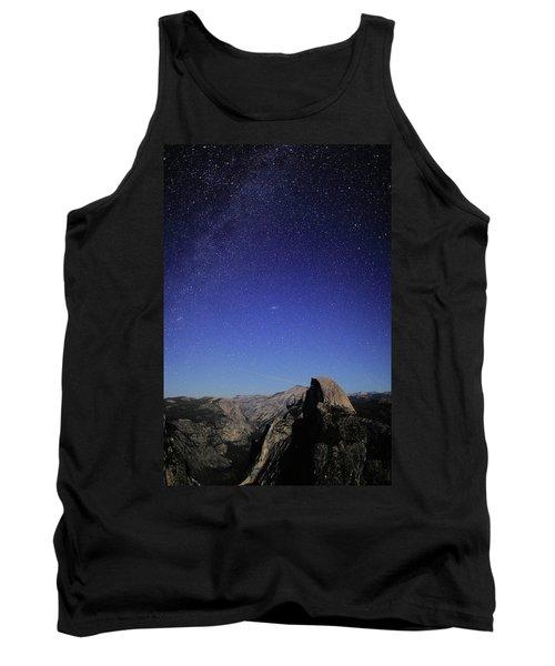 Milky Way Over Half Dome Tank Top by Rick Berk