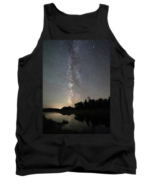 Milky Way Over Schwabacher's Landing Tank Top