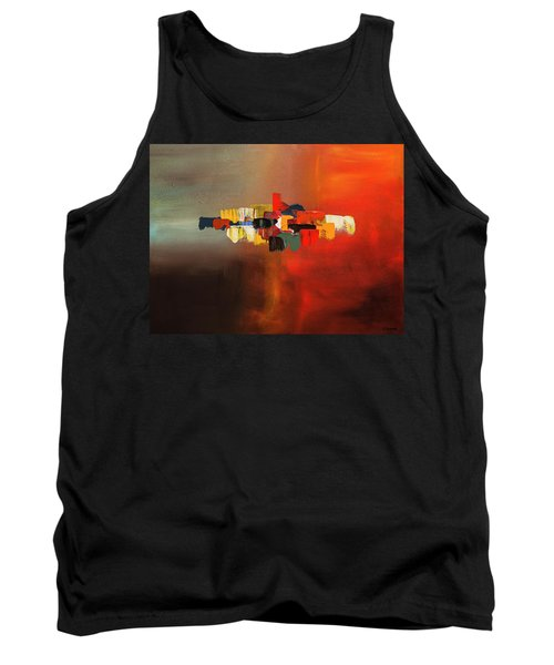 Tank Top featuring the painting Mindful - Abstract Art by Carmen Guedez