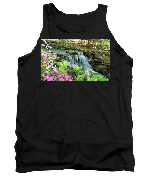 Tank Top featuring the photograph Mini Waterfall by Sandy Keeton