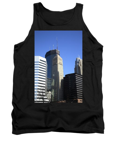 Tank Top featuring the photograph Minneapolis Skyscrapers 12 by Frank Romeo