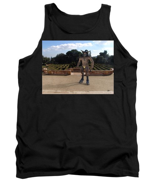 Minotaur In The Labyrinth Park Barcelona. Tank Top