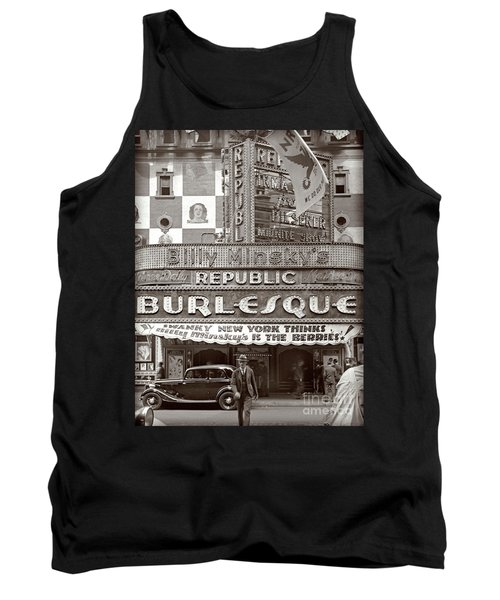 Tank Top featuring the photograph Minsky's Burlesque Theater New York by Martin Konopacki Restoration