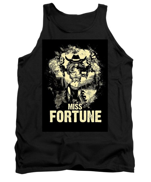 Miss Fortune - Vintage Comic Line Art Style Tank Top