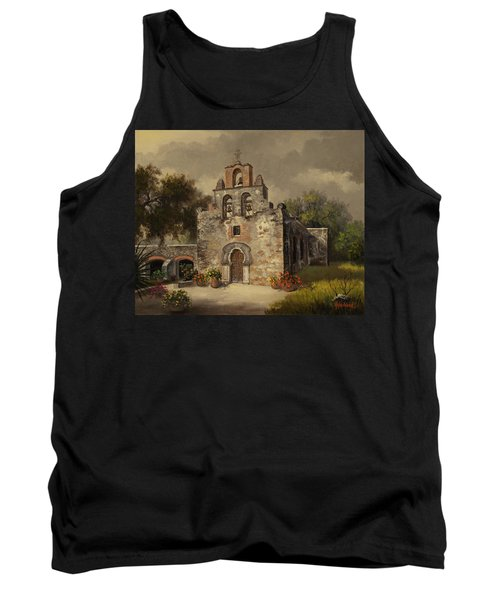 Tank Top featuring the painting Mission Espada by Kyle Wood