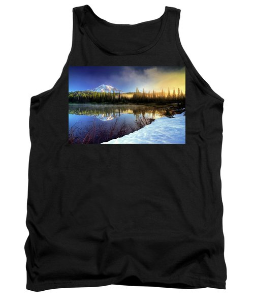 Misty Morning Lake Tank Top