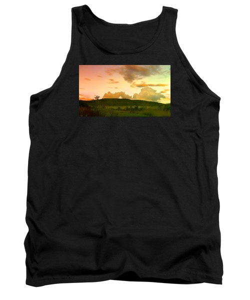 Tank Top featuring the photograph Misty Morning Sunrise by Mike Breau