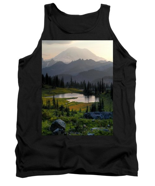 Misty Rainier At Sunset Tank Top