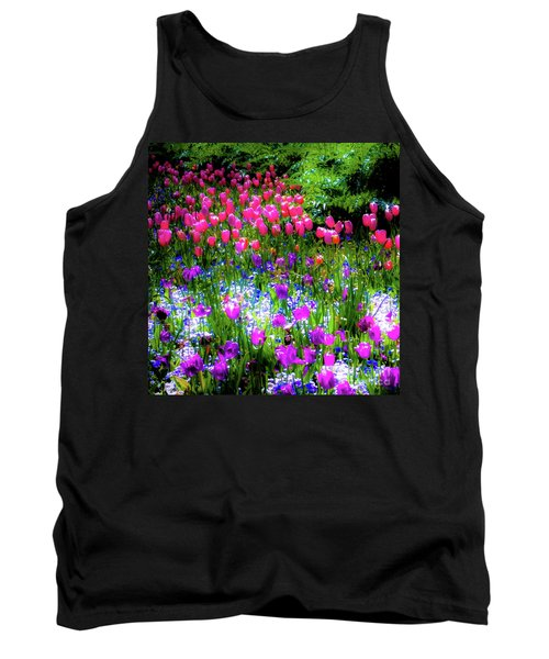 Mixed Flowers And Tulips Tank Top