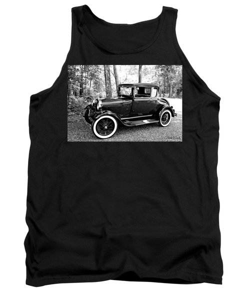 Model A In Black And White Tank Top