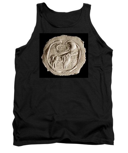 Tank Top featuring the relief Mohenjodaro Seal by Suhas Tavkar
