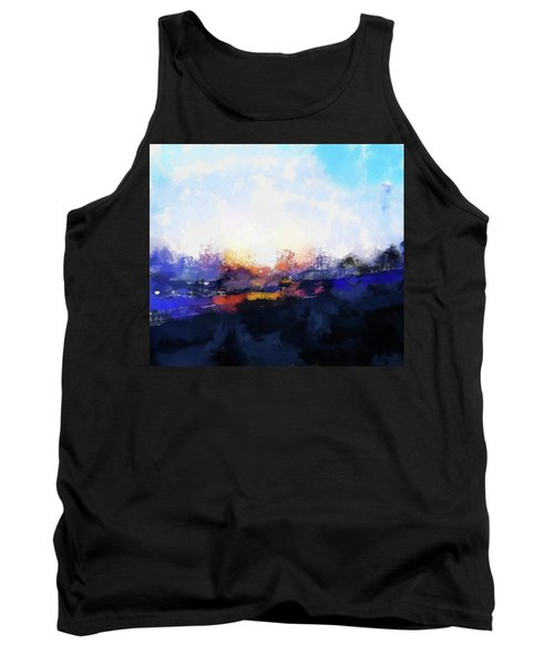 Moment In Blue Spaces Tank Top by Cedric Hampton