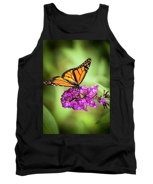 Monarch Moth On Buddleias Tank Top