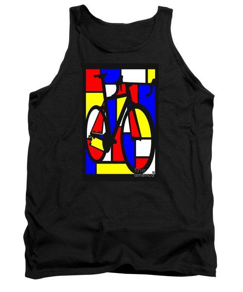 Mondrianesque Road Bike Tank Top