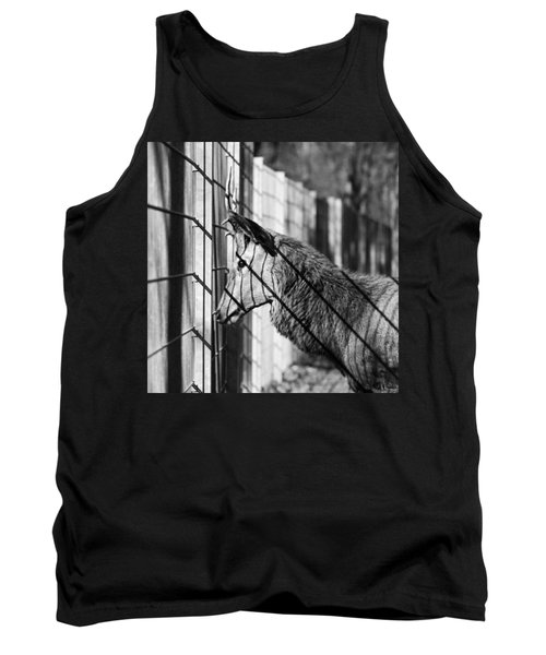 #monochrome #canon #cage #blackandwhite Tank Top