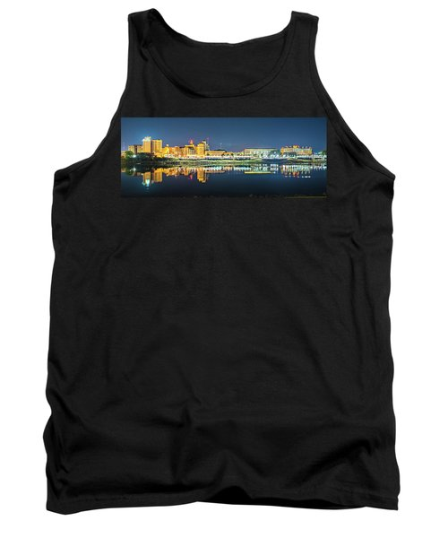 Monroe Louisiana City Skyline At Night Tank Top