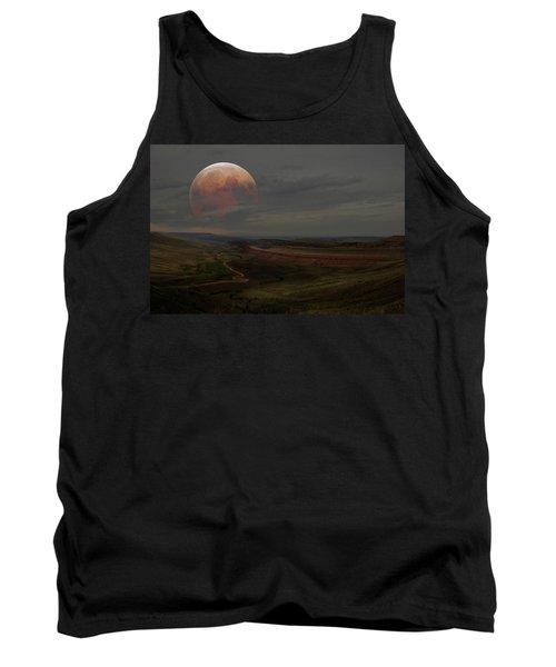 Montana Landscape On Blood Moon Tank Top
