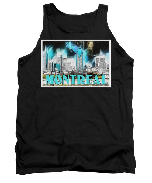 Tank Top featuring the painting Montreal Lights by Kai Saarto