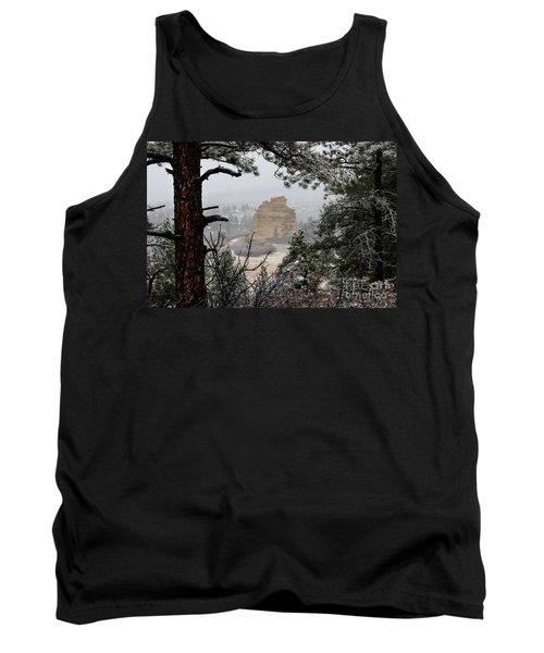 Monument Rock In The Snow Tank Top