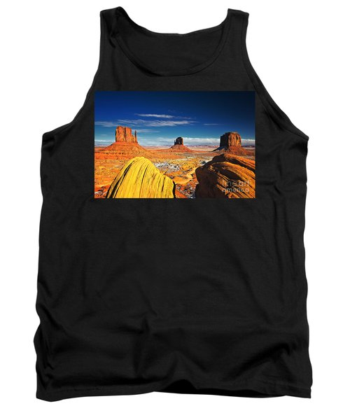 Monument Valley Mittens Utah Usa Tank Top by Sam Antonio