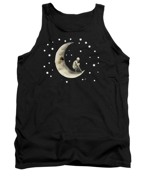 Moon And Stars T Shirt Design Tank Top