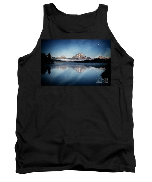 Tank Top featuring the photograph Moonset by Scott Kemper