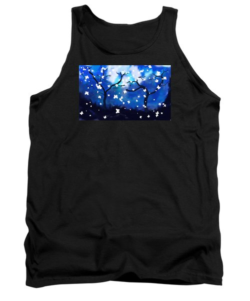 Moonlight Butterflies Tank Top
