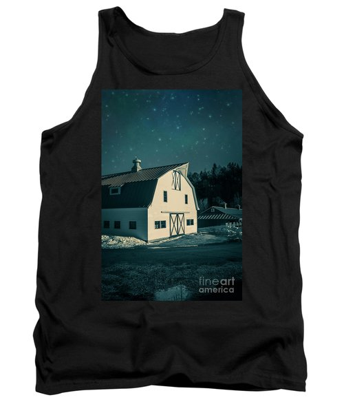 Tank Top featuring the photograph Moonlight In Vermont by Edward Fielding