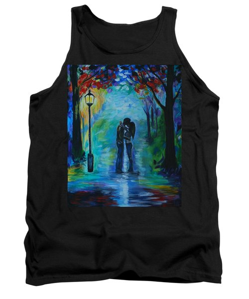 Tank Top featuring the painting Moonlight Kiss by Leslie Allen