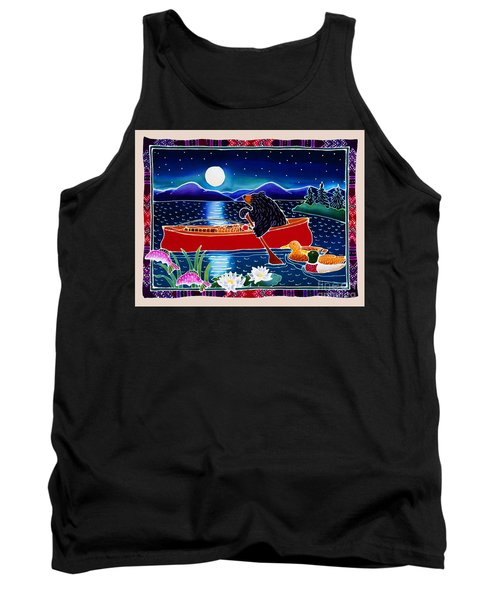 Moonlight On A Red Canoe Tank Top