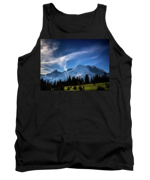 Moonlight On Mt Rainier Tank Top