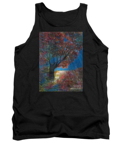 Moonlit Tree Tank Top by Denise Hoag
