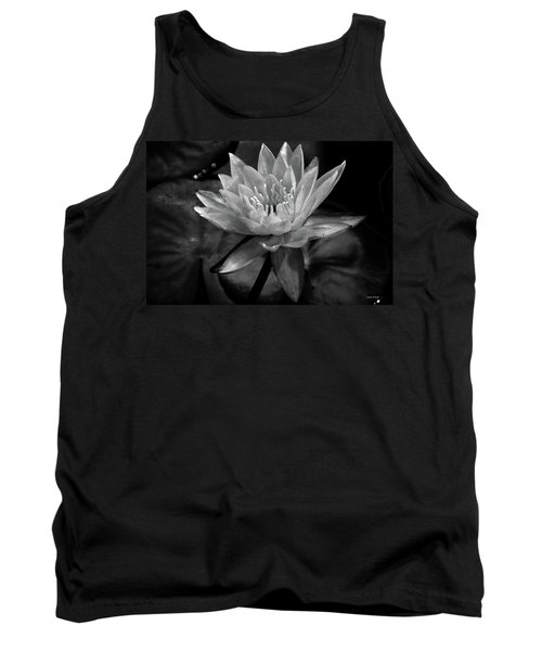 Moonlit Water Lily Bw Tank Top