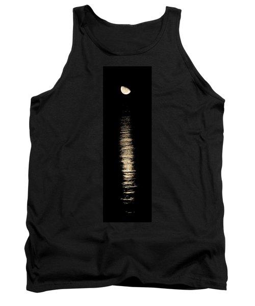 Moonrise Over Monroe Harbor Chicago 0158 Tank Top by Michael Bessler