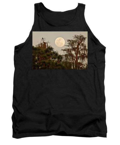 Moonrise Over Southern Pines Tank Top