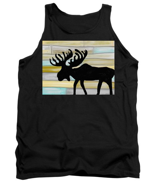 Tank Top featuring the digital art Moose by Paula Brown