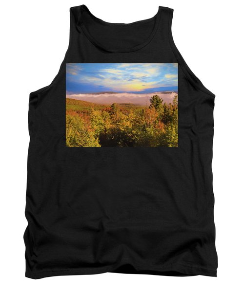 Morning Autumn Landscape Northern New Hampshire Tank Top