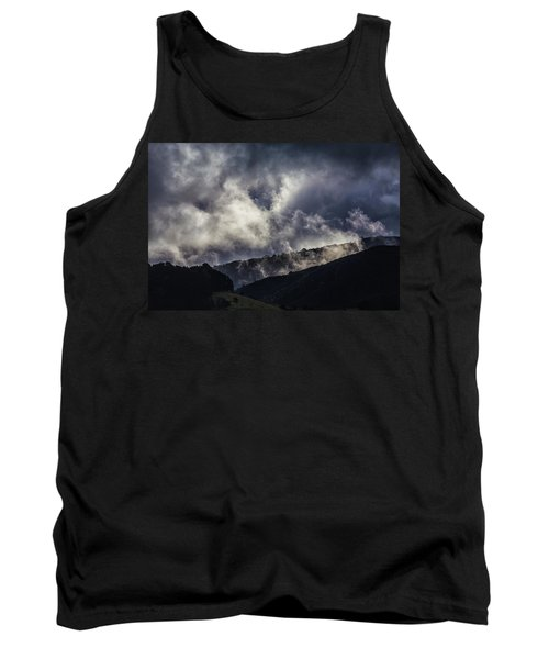 Morning Fog,mist And Cloud On The Moutain By The Sea In Californ Tank Top
