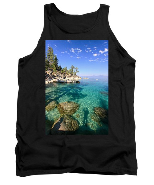Morning Glory At The Cove Tank Top by Sean Sarsfield