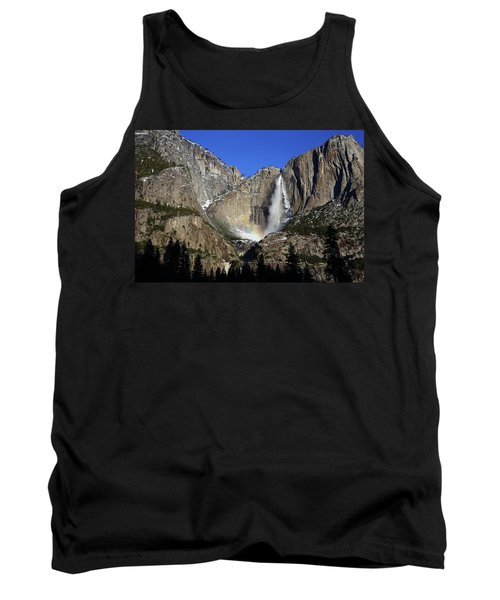 Tank Top featuring the photograph Morning Light On Upper Yosemite Falls In Winter by Jetson Nguyen