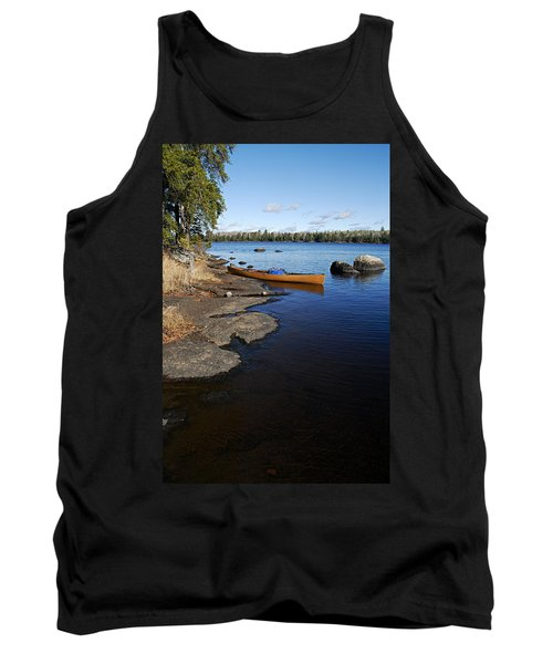 Morning On Hope Lake Tank Top by Larry Ricker