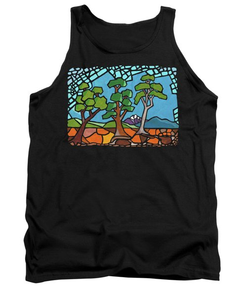 Mosaic Trees Tank Top by Anthony Mwangi