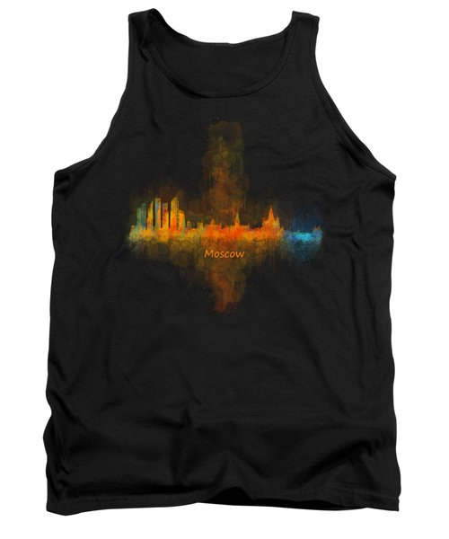 Moscow City Skyline Hq V4 Tank Top