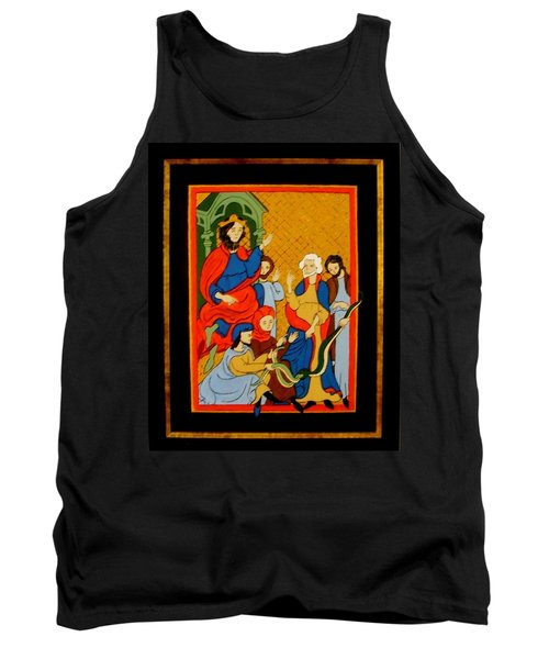 Tank Top featuring the painting Moses And Pharaoh by Stephanie Moore