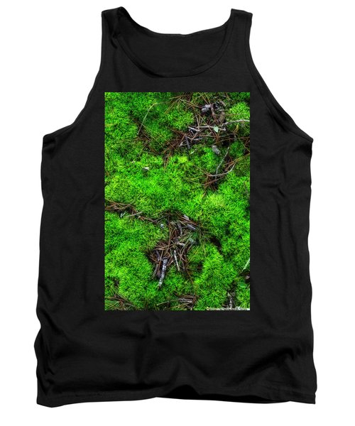 Tank Top featuring the photograph Moss On The Hillside by Mike Eingle