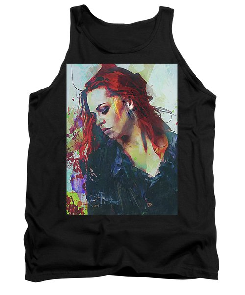 Mostly- Abstract Portrait Tank Top