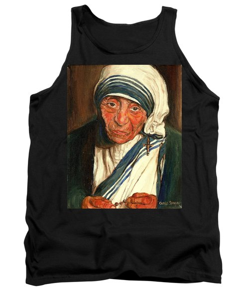 Tank Top featuring the painting Mother Teresa  by Carole Spandau